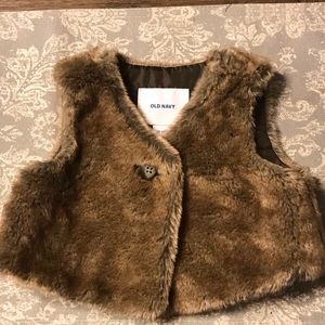 Old Navy faux fur vest